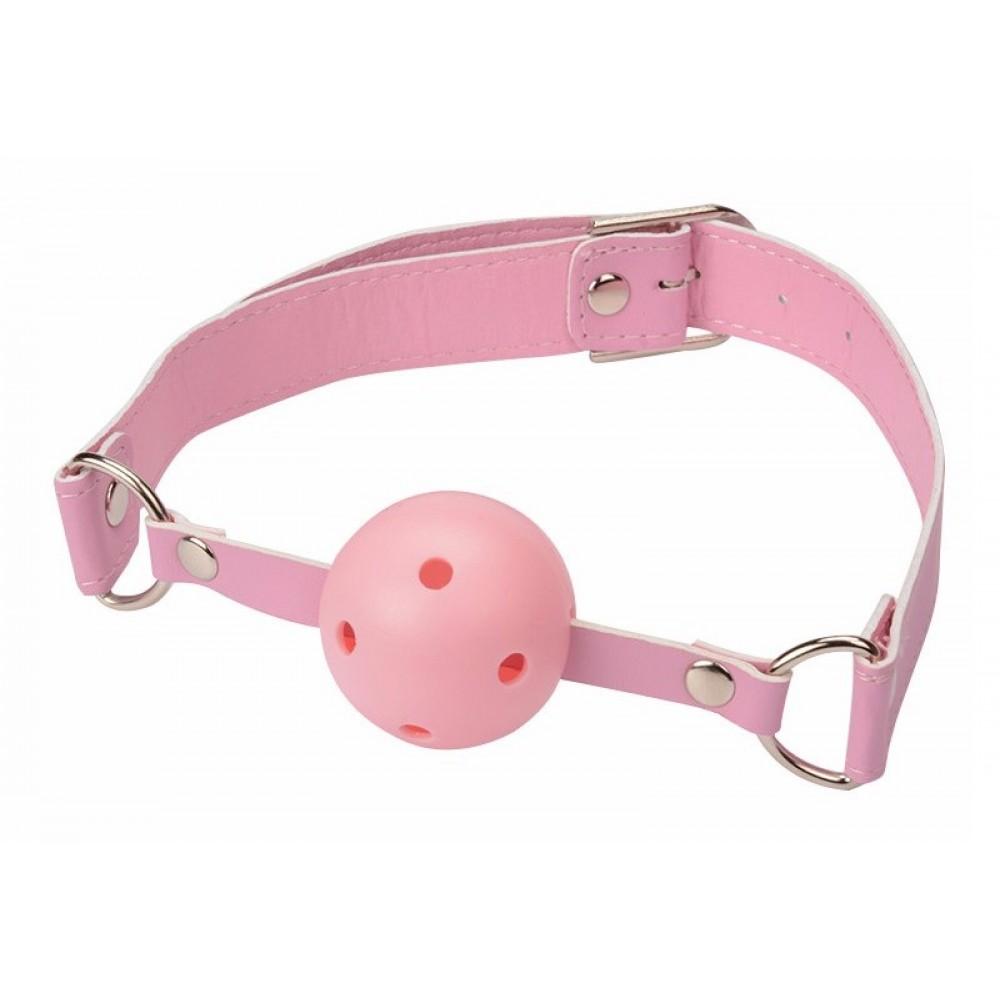 Кляп розового цвета для страстных игр фото 3