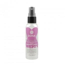 Спрей для тела с блестками JO Dona Shimmer Spray silver, 60 мл