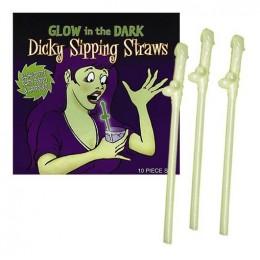 П. Светящиеся трубочки Penis Strohhalme Glowing для тематических вечеринок