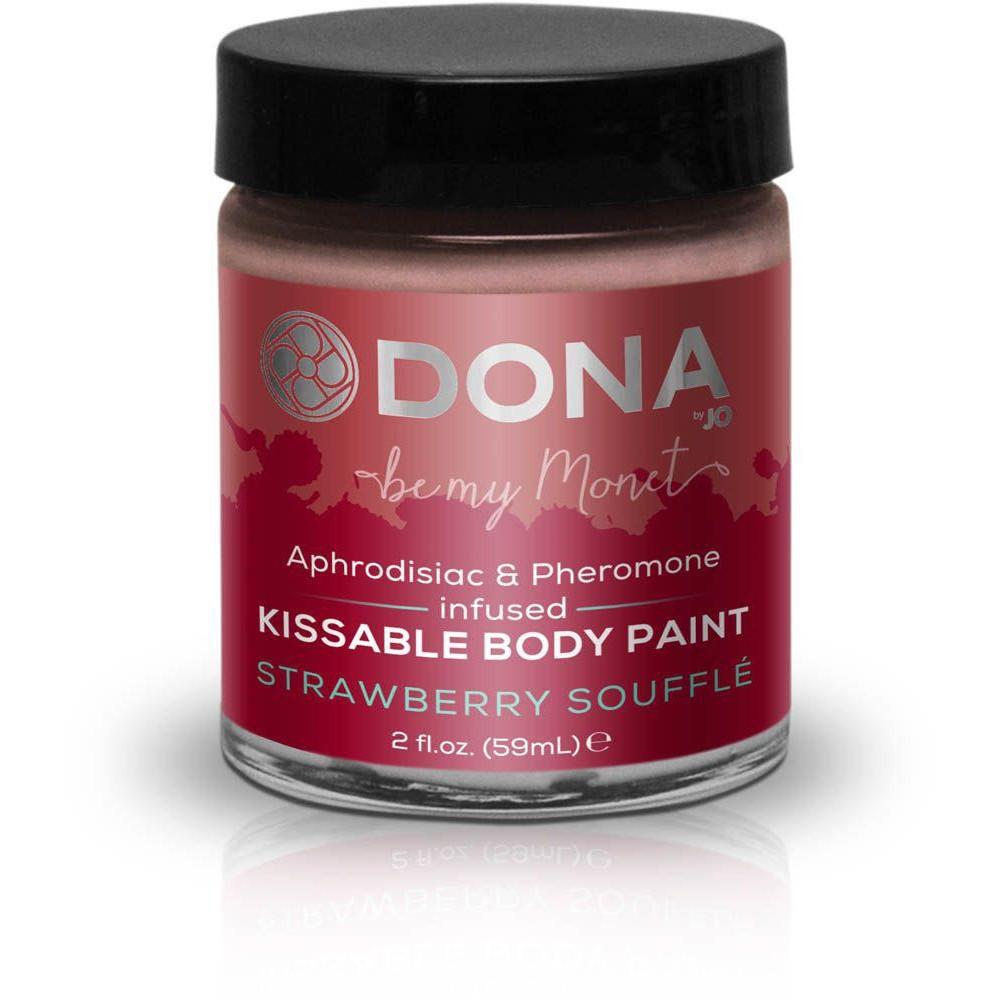 Cъедобная краска для тела Dona Kissable Body Paint - STRAWBERRY SOUFFLE  фото 2
