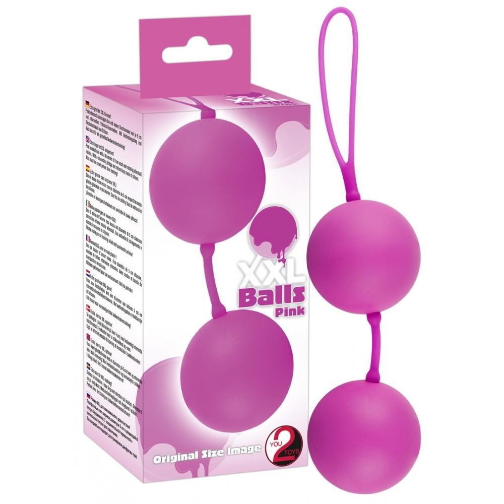 Вагинальные шарики - XXL Balls, pink фото 1